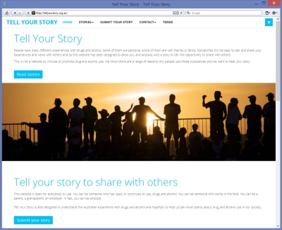 Tell Your Story website